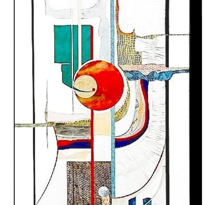 Lederintarsie Bild mit verschiedenen Fantasie-Ledern