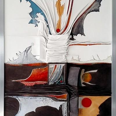 Lederrelief - Intarsie + Collage
