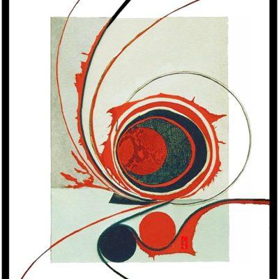 wandbild Intarsie mit Glatt-+ Velour Leder