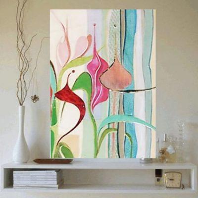 Wandbild mit div. Lederarten + Farben