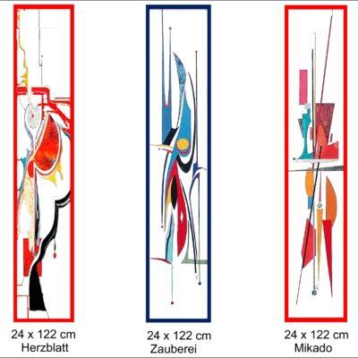 Wandbilder hochformatig als Lederintarsien